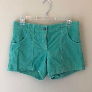 NWT J.Crew corduroy teal shorts size 6